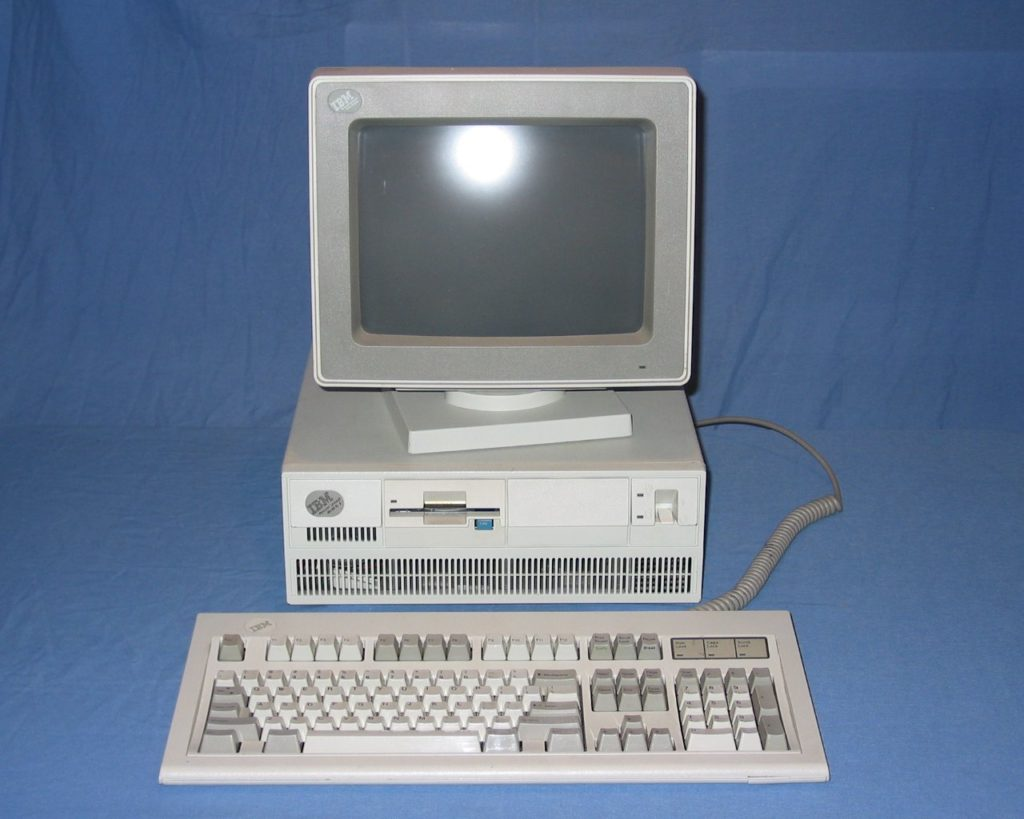 This is similar to an IBM PS2 that we used to have.  It was my Dads work computer however, I spent more time on it than he did playing games like Code Name Iceman, Police Quest, Kings Quest and more.